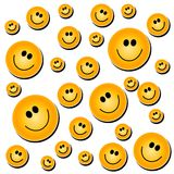 Smiley Face Background White. A background pattern of smiley faces on a white background - fully tileable Stock Images