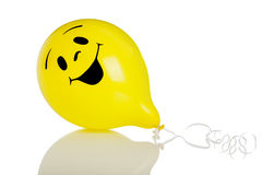 Smiley face balloon on white background Stock Image
