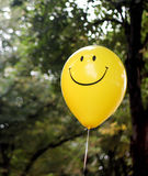 Smiley face balloon Stock Photos