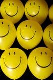 Smiley face balloons. Yellow smiley face balloons royalty free stock image