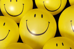 Smiley face balloons Stock Photography