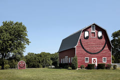 Smiley face barn and shed Royalty Free Stock Photography