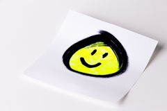 Smiley face card Royalty Free Stock Photos