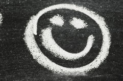 Smiley Face on Chalkboard Royalty Free Stock Photography