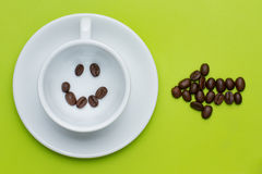 Smiley face coffee here Royalty Free Stock Images