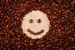 Smiley face of coffee Stock Photo