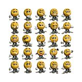 Smiley Face Collection Stock Photo