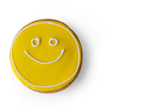 Smiley face cookie. Royalty Free Stock Photography