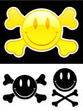 Smiley face with crossbones Stock Photos