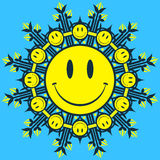 Smiley face design element Stock Photography