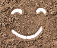 Smiley face in the dirt. Royalty Free Stock Image