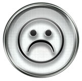 Smiley Face, dissatisfied grey Royalty Free Stock Photo