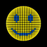 Smiley face from dots Stock Image