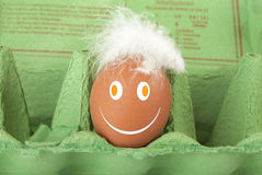 Smiley Face egg Royalty Free Stock Photos