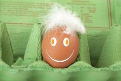 Smiley Face egg Royalty Free Stock Photos