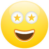 Smiley Face Emoticon Celebrity Star Lizenzfreies Stockbild