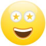 Smiley Face Emoticon Celebrity Star Royaltyfri Bild