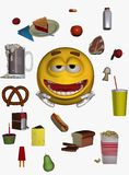 Smiley face and food Stock Photo