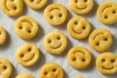 Smiley Face French Fries caseiro imagem de stock