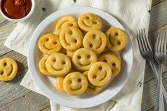 Smiley Face French Fries caseiro fotografia de stock