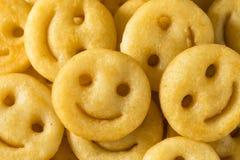 Smiley Face French Fries caseiro foto de stock royalty free
