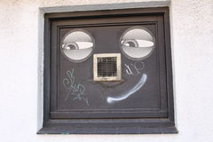 Smiley Face Graffiti Foto de Stock Royalty Free