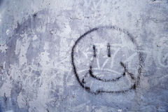 Smiley Face Graffiti Photo stock
