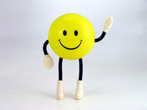 Smiley Face Guy. Waving smiley face guy Royalty Free Stock Photo