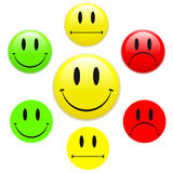 Smiley face happy/unhappy. Feedback vector illustration