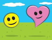 Smiley Face and Heart Stock Photos