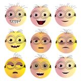 Smiley Face Icon Set Photos stock