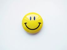 Smiley face icon. On white background stock photography