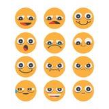 Smiley face icons  on white background Stock Photo