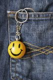 Smiley Face Keyring Stock Photography