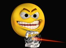 Smiley face with light weapon Royalty Free Stock Images