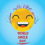 World Smile Day, October. Smiley face logo illustration vector Royalty Free Stock Photography