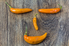 Smiley face made of chili pepper Stock Images