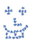 Smiley. Face made by puzzle on white background. Happy Stock Images
