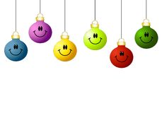 Smiley Face Ornaments stock illustration