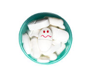 Smiley face pill Stock Image