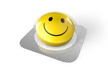 Smiley face pill in blister. Smiley face pills in blister  on white background Stock Photography