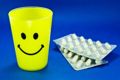 Smiley Face and Pills Royalty Free Stock Photography