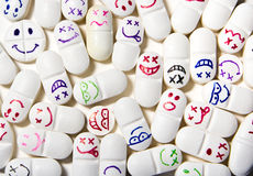 Smiley face pills Royalty Free Stock Photography