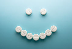 Smiley face  from pills Royalty Free Stock Photos