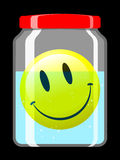 Smiley face in preserving jar Royalty Free Stock Images
