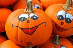 Smiley face pumpkin Royalty Free Stock Photo