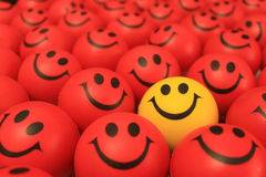 Smiley face. Red, yellow smiley face smiley face different in stock images