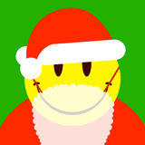 Smiley face santa with attached beard Royalty Free Stock Photography