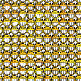 Smiley face seamless pattern Stock Photography