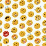 Smiley Face Seamless Pattern: Illustrazione di vettore Immagine Stock